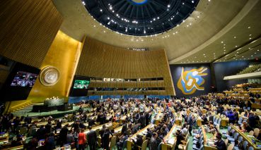 Wide view of the Hall during the opening of the meeting. 86th plenary meeting Election of five non-permanent members of the Security Council [item 112(a)] (a) By-election (A/71/896) (b) Election of five non-permanent members of the Security Council